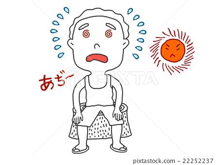 头痛 首页 插图 人物 男性 男孩 中暑 头疼 头痛  *pixta限定素材仅在