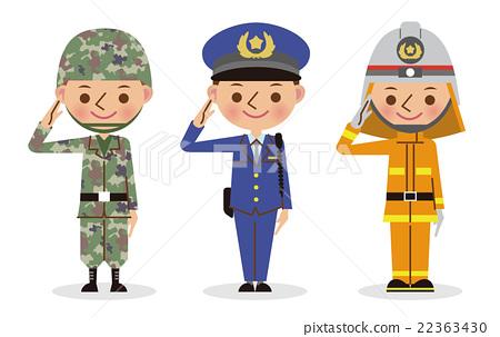 警察 消防员 首页 插图 姿势_表情_动作 姿势 敬礼 自卫形式成员 警察