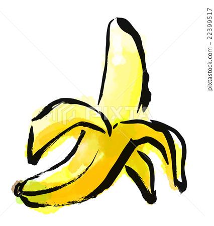 首页 插图 蔬菜_食品 水果 香蕉 插图 毛笔绘画 水果  *pixta限定素材