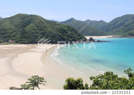 图库照片: 日本五岛群岛 福江岛 万里无云