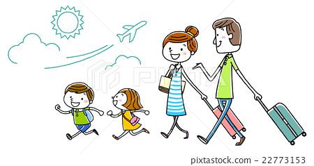 图库插图: 插图素材:家庭旅行