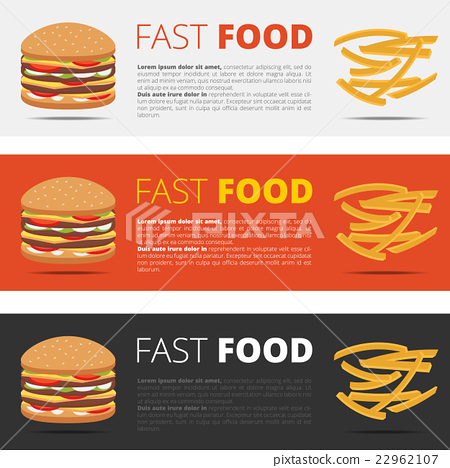 插图素材: fast food restaurant menu