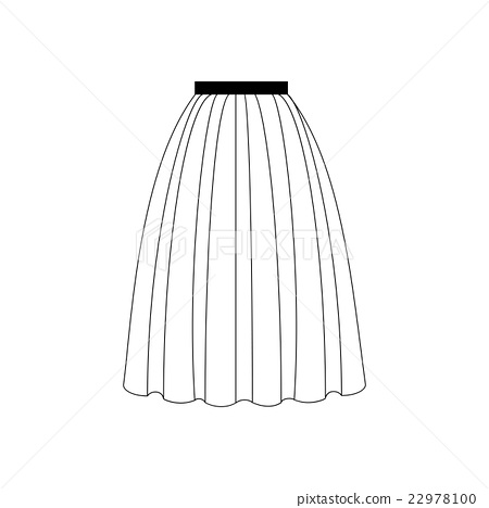 图库插图 skirt vector illustration