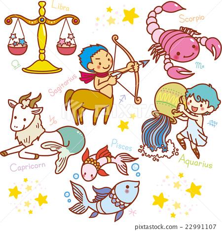 图库插图: 星座 12星座 人物