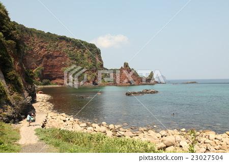 图库照片: 岛根县 西之岛