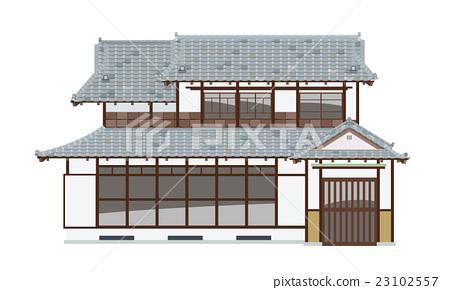 图库插图: 日式房屋 房屋 房子