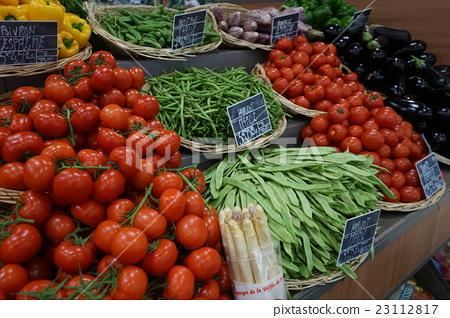 照片 菜市场 蔬菜  pixta限定素材      菜市场 蔬菜[23112817] 图库