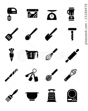 插图素材: bakery equipment icon