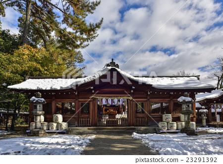 首页 照片 风景_自然 季节 冬 丰国神社大殿  *pixta限定素材仅在