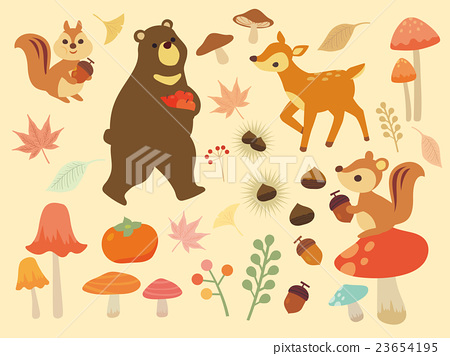 风景_自然 季节 秋 插图 秋天 秋 动物 首页 插图 风景_自然 季节 秋