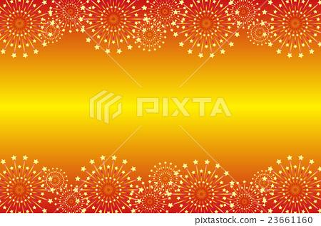 插图素材: 背景材料壁纸,夏季节日,烟花,夜空,星矿,光,辉煌,副本空间