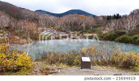 图库照片: 地狱沼 风景 咸水湖