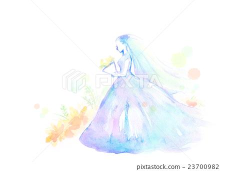插图素材: 水彩例证婚姻