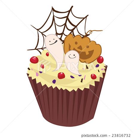 插图素材: 万圣节蛋糕