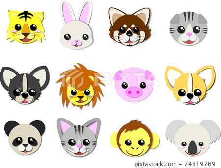 图库插图: 动物 脸部 脸