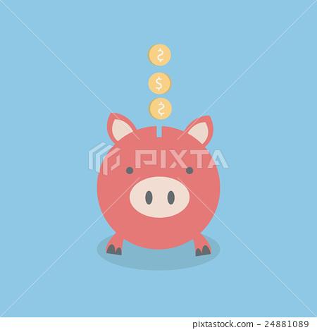 图库插图: saving money, vector