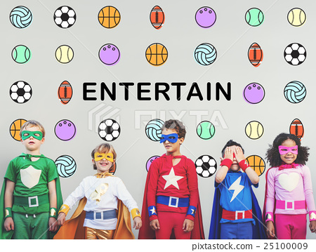 图库照片: kids games ball sport graphics concept