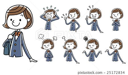 人物 女性 女孩 插图 初中生 中学生 高中生 首页 插图 人物 女性