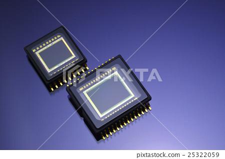 图库照片: 集成电路芯片 半导体 大头照