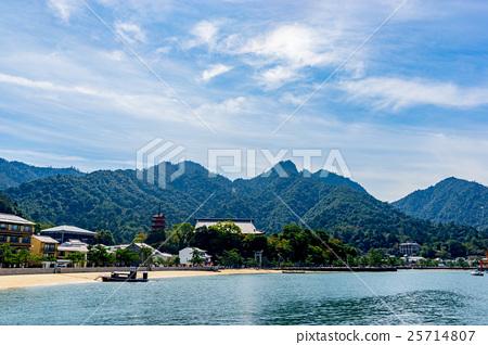 图库照片: 【广岛县】宫岛的风景