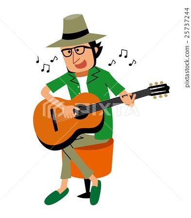 插图素材: 吉他 演奏 表演