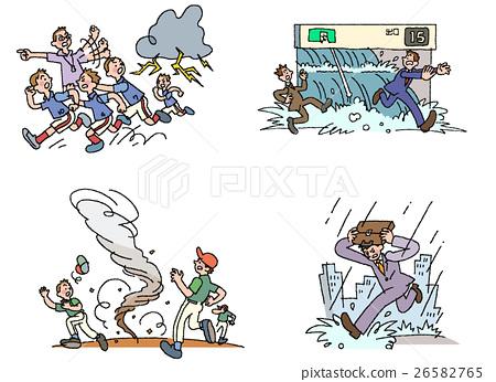 雷云 首页 插图 人物 男性 男孩 自然灾害 雷 雷云  *pixta限定素材仅