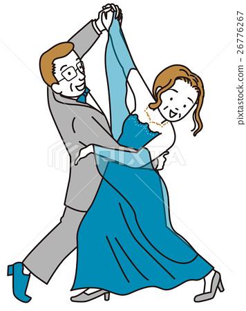 中老年人 老女人 首页 插图 运动_运动 跳舞_跳舞 交谊舞 中年 中老年