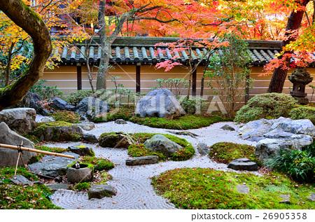 图库照片: 秋天日本庭院