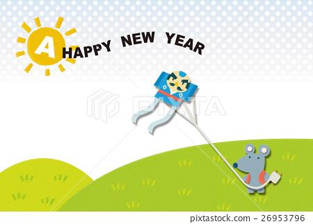 首页 插图 动物_鸟儿 宠物_小动物 老鼠 新年贺卡 贺年片 放风筝  *pi