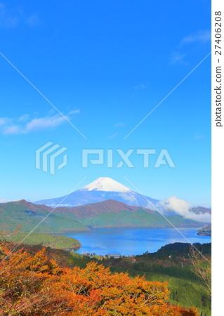 图库照片: 箱根 富士山 秋天
