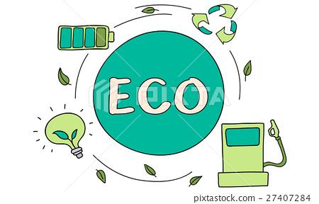 图库插图: eco energy saving environmental conservation ecology