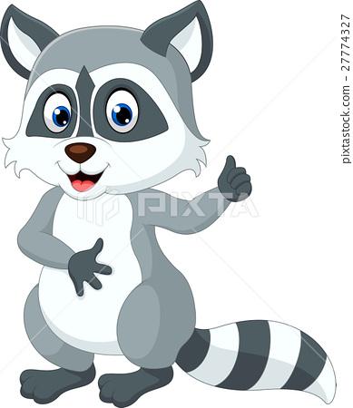 图库插图: baby raccoon cartoon