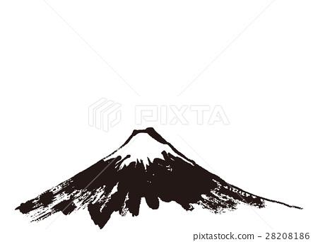 首页 插图 日本风景 山梨 富士山 富士山 水墨画 堆  *pixta限定素材