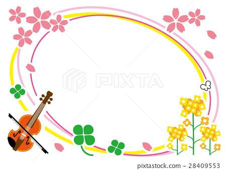 图库插图: 矢量 小提琴 春天图片