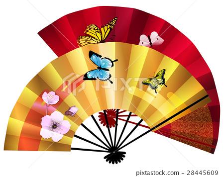 日本扇子 折扇 蝴蝶 首页 插图 爬行动物_昆虫_恐龙 蝴蝶 日本扇子