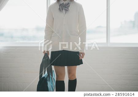 照片 人物 学生 高中生 高中女生 不露脸 高中生  *pixta限定素材仅在