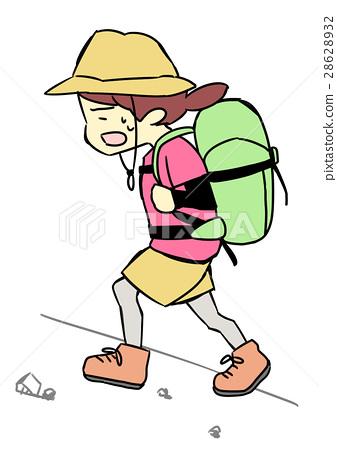 图库插图: 爬山 徒步旅行 户外