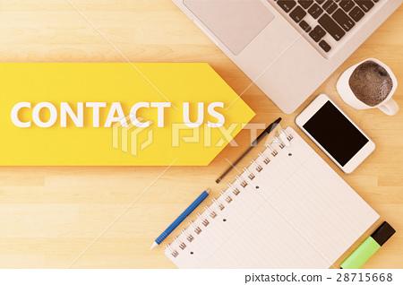 插图素材: contact us