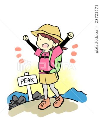 登山背景素材 卡通