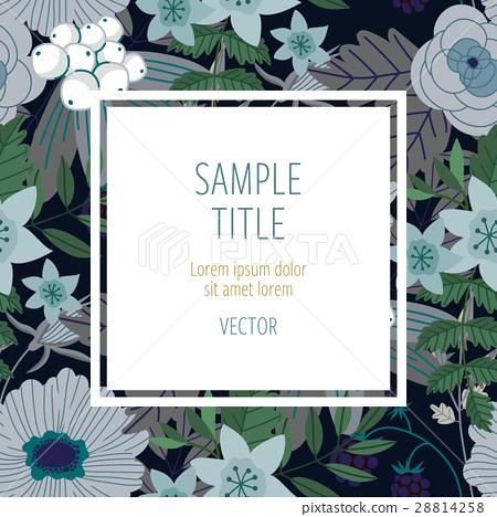 插图素材: cute invitation template with flower decoration