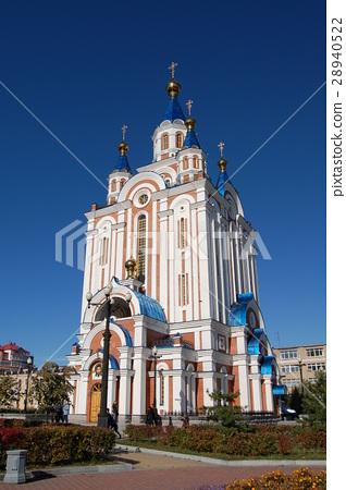 图库照片: 希腊东正教堂 哈巴罗夫斯克 俄国