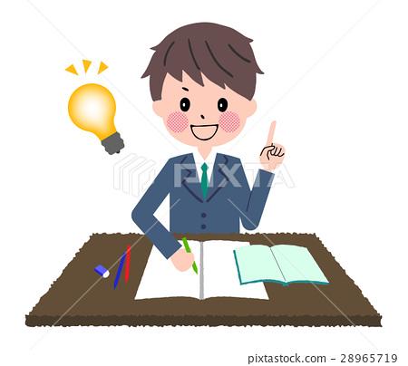 图库插图: 学习 高中生 矢量