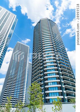图库照片: 东京·高层公寓的风景