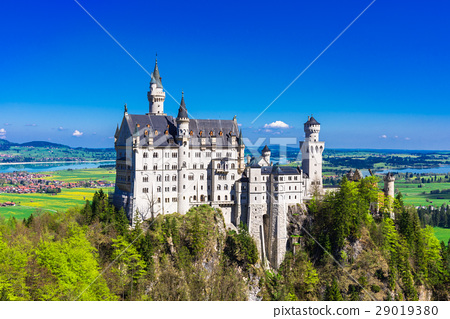 图库照片: 新天鹅堡 城堡 德国人