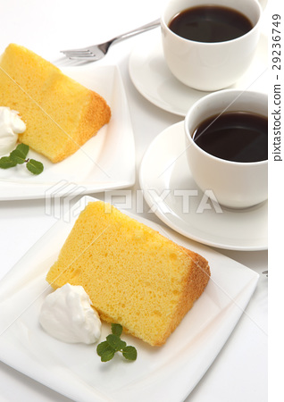 图库照片: 戚风蛋糕 糕点 西式甜点图片
