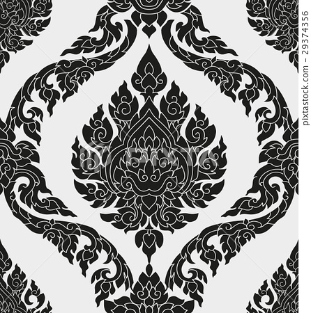 图库插图: thai pattern design图片