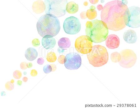 玩耍 肥皂泡 水彩纹理彩虹颜色肥皂泡  *pixta限定素材仅在pixta网站