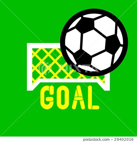 插图素材: football goal