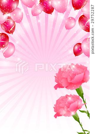 图库插图: 母亲节 康乃馨 背景