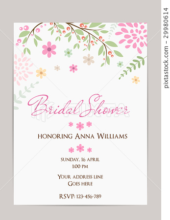 插图素材: bridal shower invitation